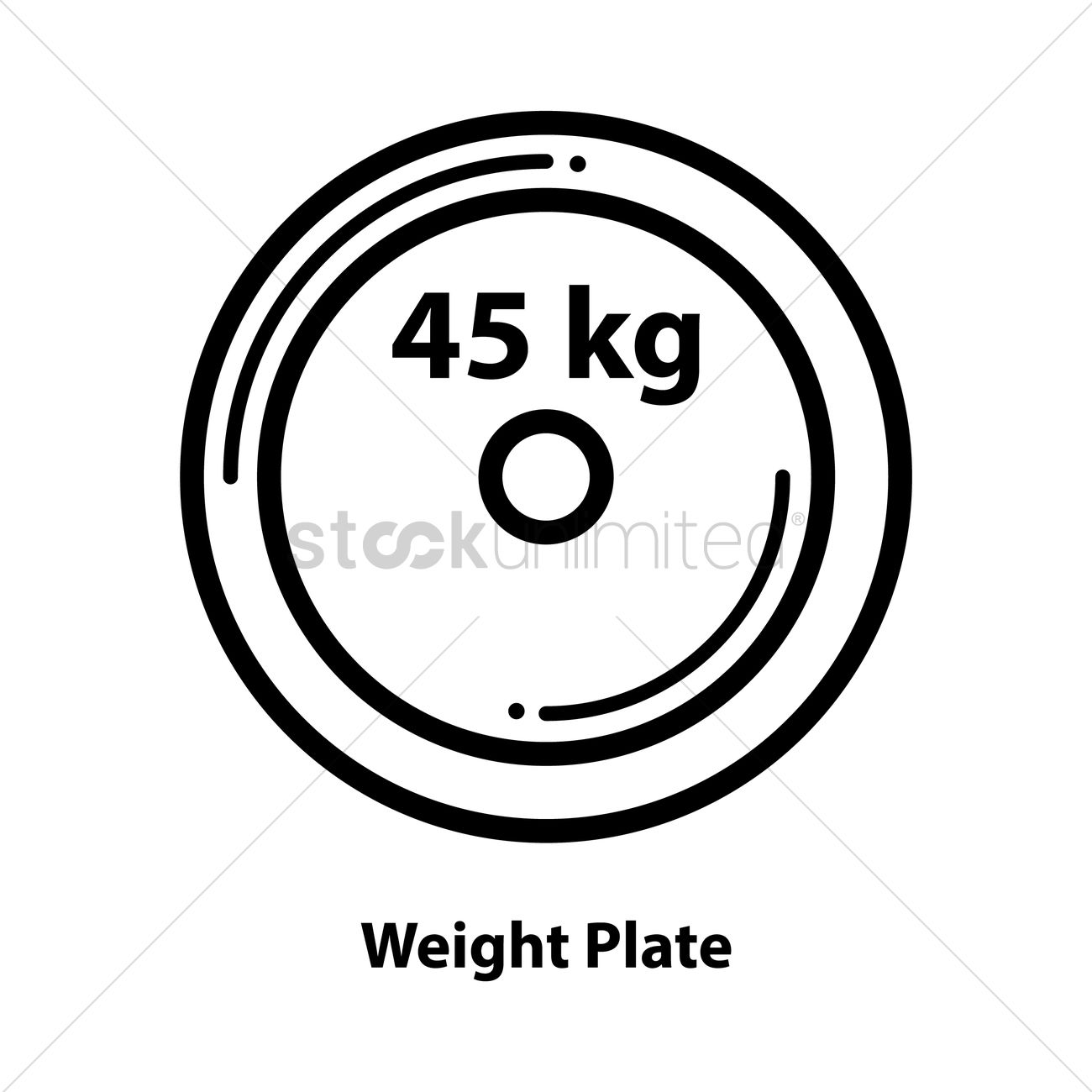 1300x1300 Weight Plate Vector Image