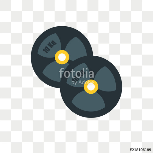 500x500 Weight Plates Vector Icon Isolated On Transparent Background
