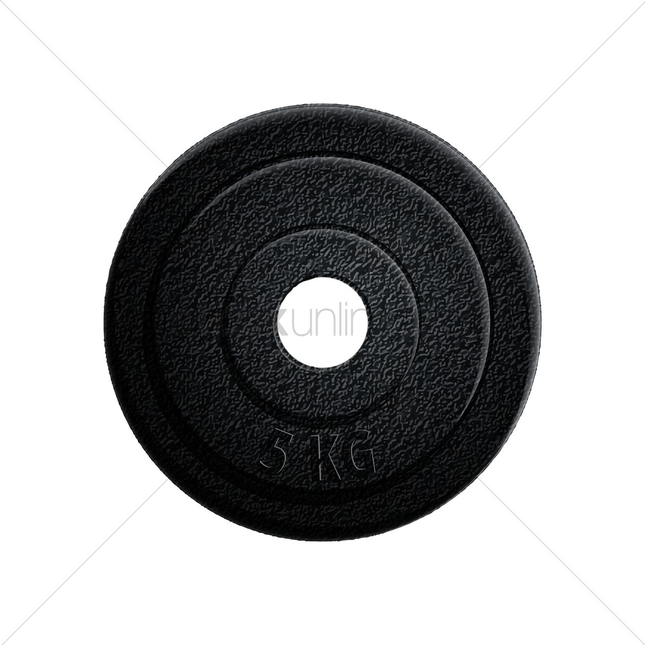 1300x1300 Weightlifting Plate Vector Image