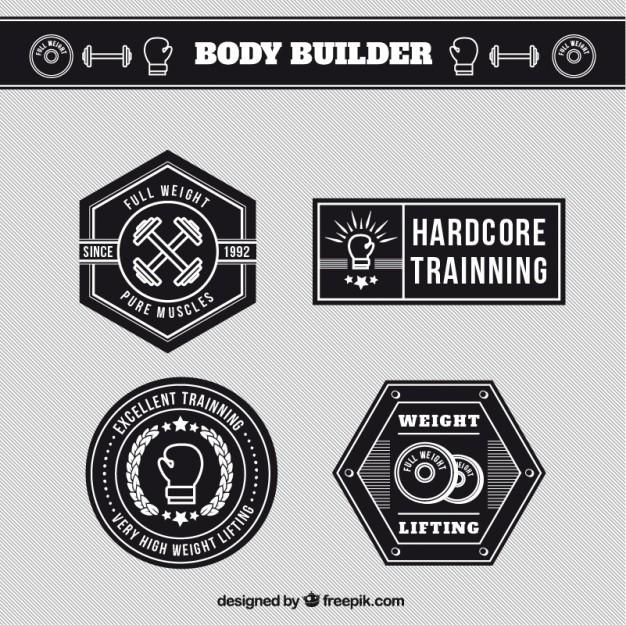 626x625 Body Builder Labels Free Vectors Ui Download