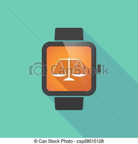 450x470 Smart Watch With A Weight Scale. Long Shadow Smart Watch With A