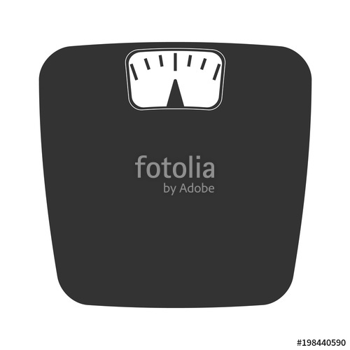 500x500 Vector Bathroom Weight Scale Icon Stock Image And Royalty Free