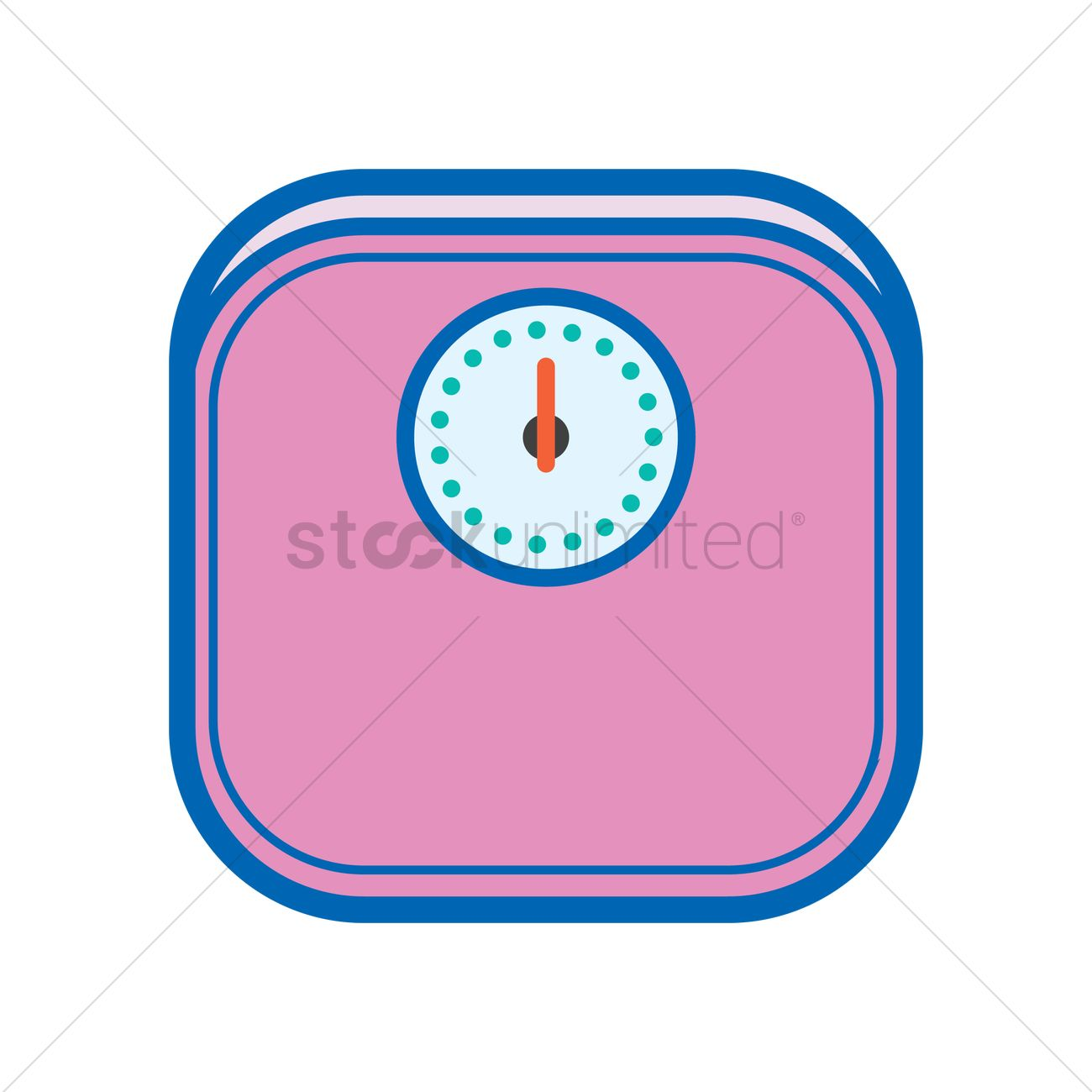 1300x1300 Weight Scale Vector Image