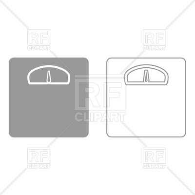 400x400 Weight Scale Grey Set Icon Vector Image Vector Artwork Of Icons