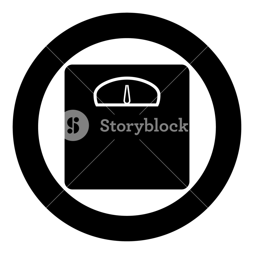 1000x1000 Weight Scale Icon Black Color In Circle Vector Illustration