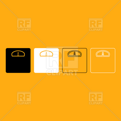 400x400 Weight Scale Icons On Orange Background Vector Image Vector