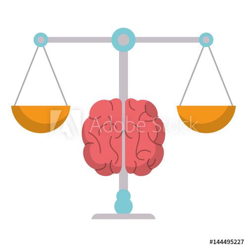 500x500 Brain Balance Weight Scale Vector Illustration Eps 10