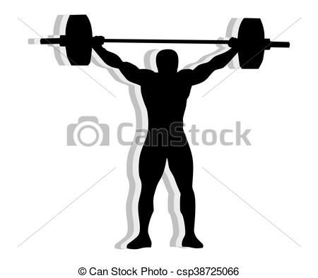 450x394 Silhouette Weightlifting. Athlete Silhouette Weightlifting