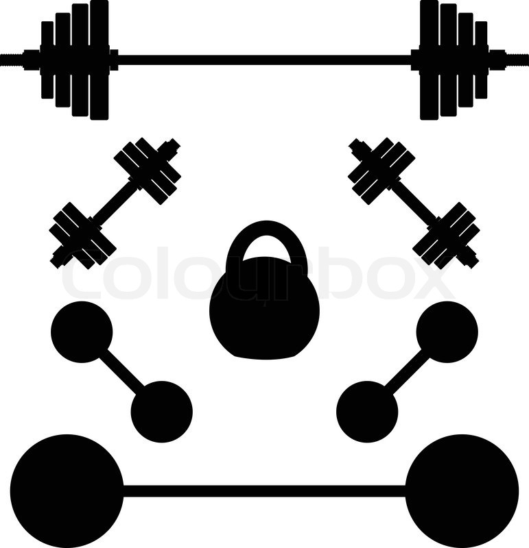 771x800 Silhouettes Of Weights Stock Vector Colourbox
