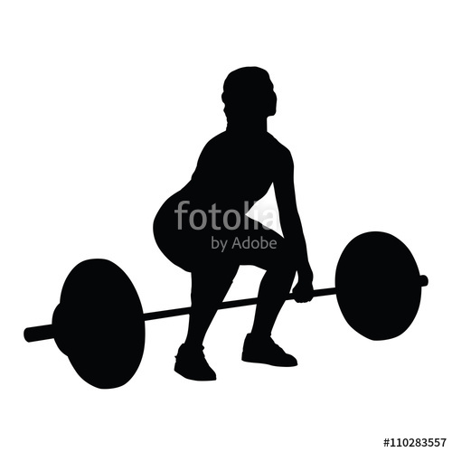 500x500 Weight Lifting Woman Vector Silhouette Stock Image And Royalty