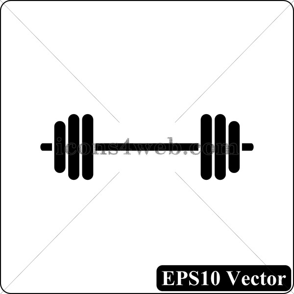 600x600 Weightlifting Black Icon. Eps10 Vector.