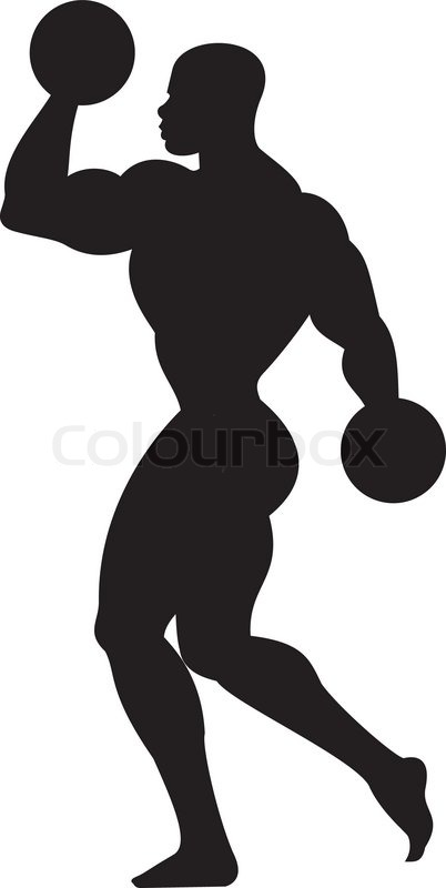 402x800 Weightlifting Silhouette Stock Vector Colourbox