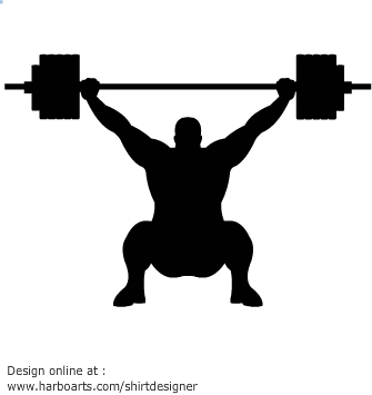 335x355 Download Weightlifter Silhouette