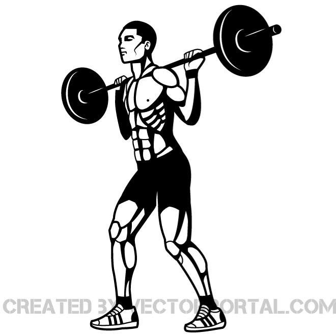 660x660 Free Weightlifter Vector Graphics.eps Psd Files, Vectors