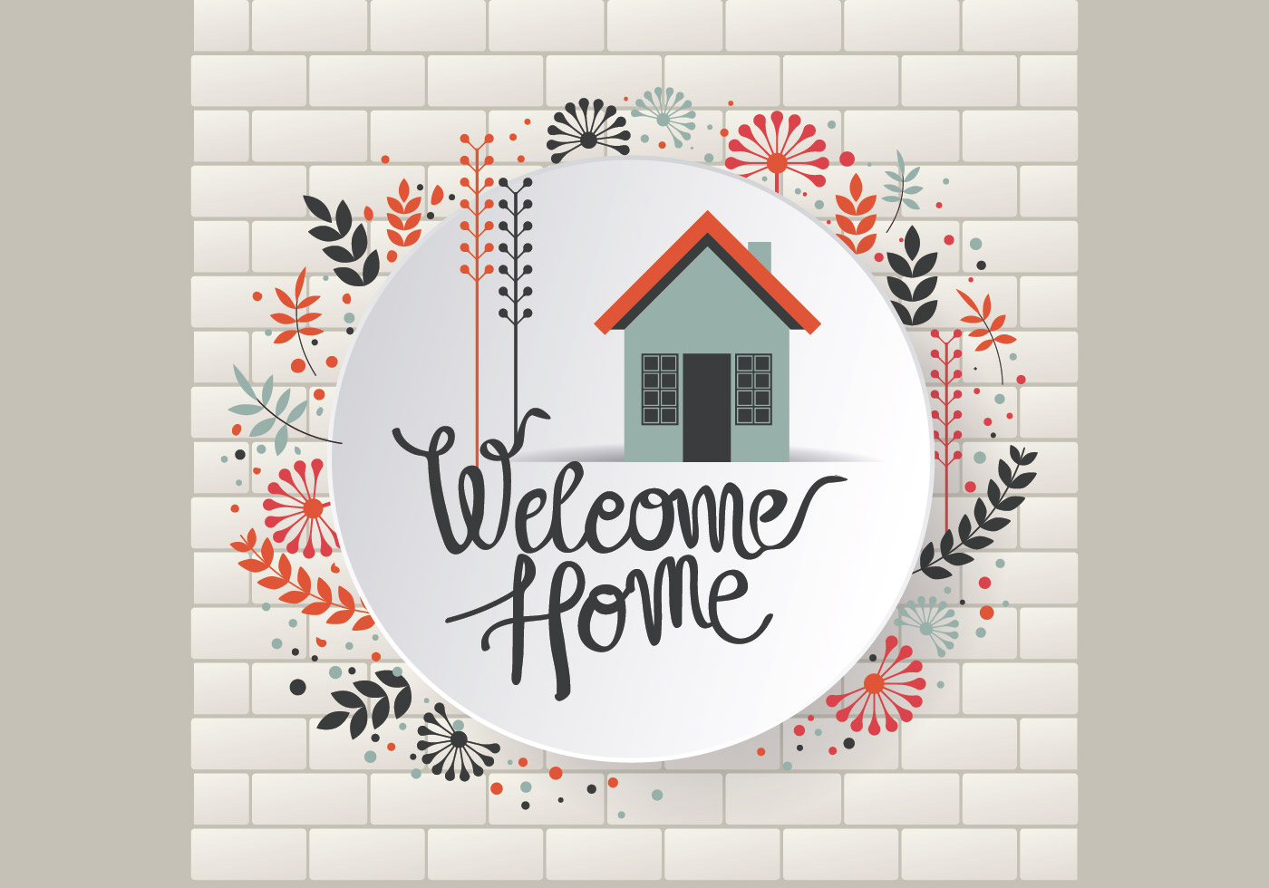 1400x980 Welcome Sign Free Vector Art