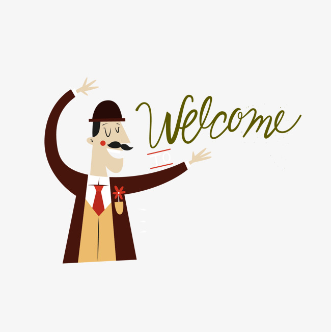 650x651 Cartoon Welcome Gestures, Vector, Greeting Card Design Png And