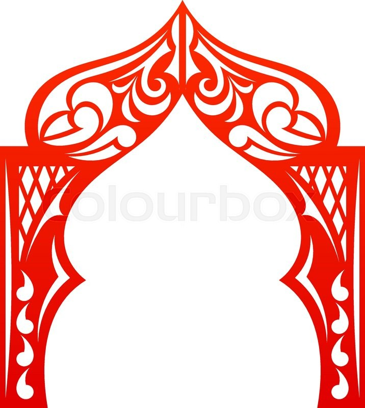716x800 Red Indian Arch Isolated On White Background. Cut. Welcome! Design