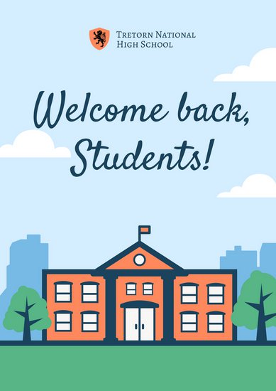 389x550 Vector Welcome Back To School