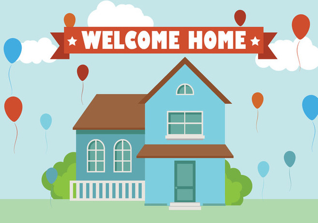 632x443 Welcome Home Background Flat Vector Free Vector Download 357481