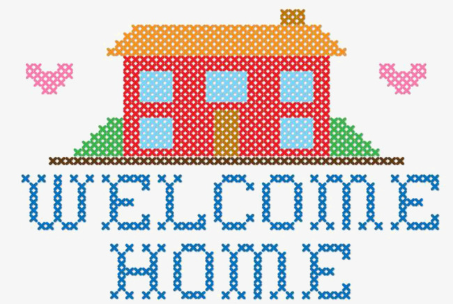 650x436 Welcome Home Embroidery Vector Graphics, At Home, Return Home