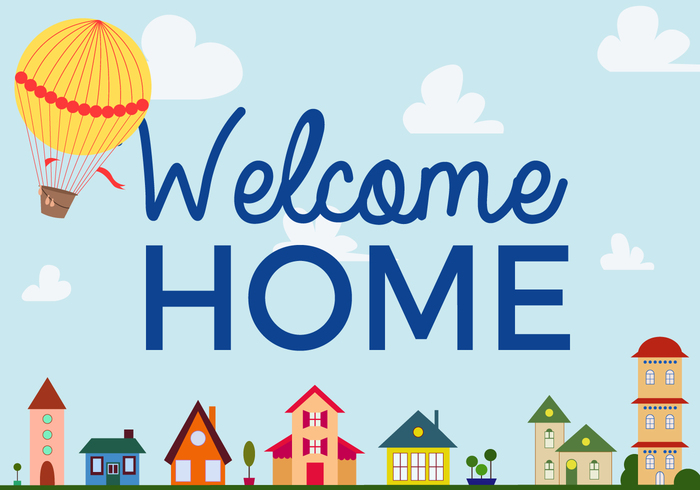 700x490 Free Welcome Home Vector