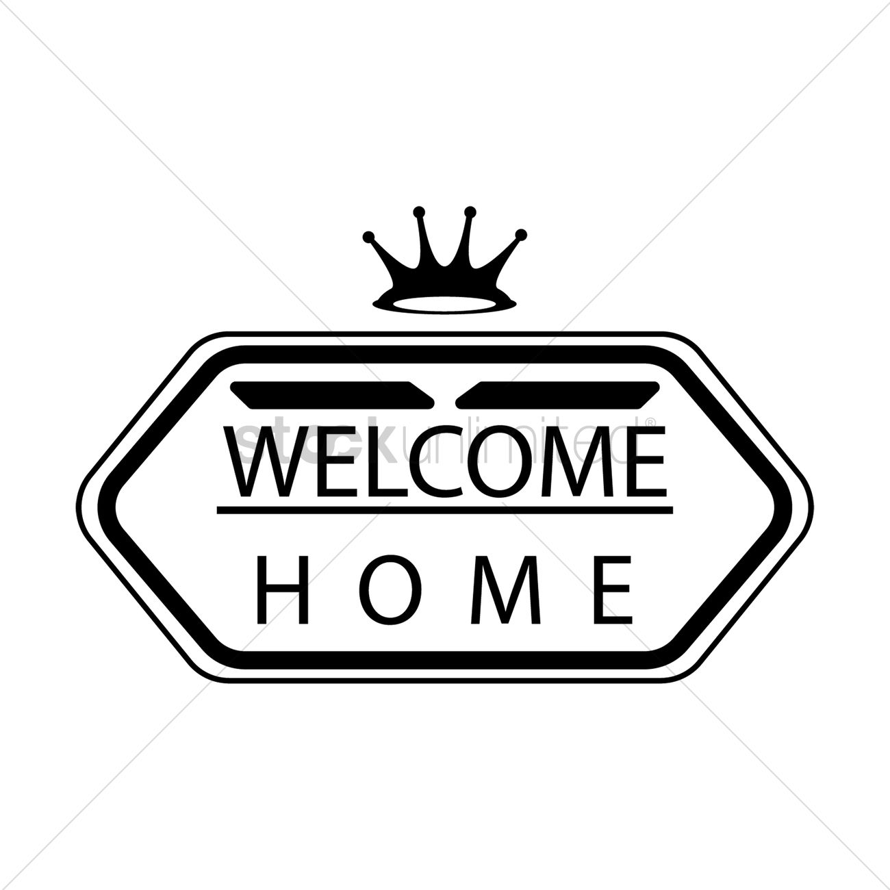 1300x1300 Welcome Home Vector Image