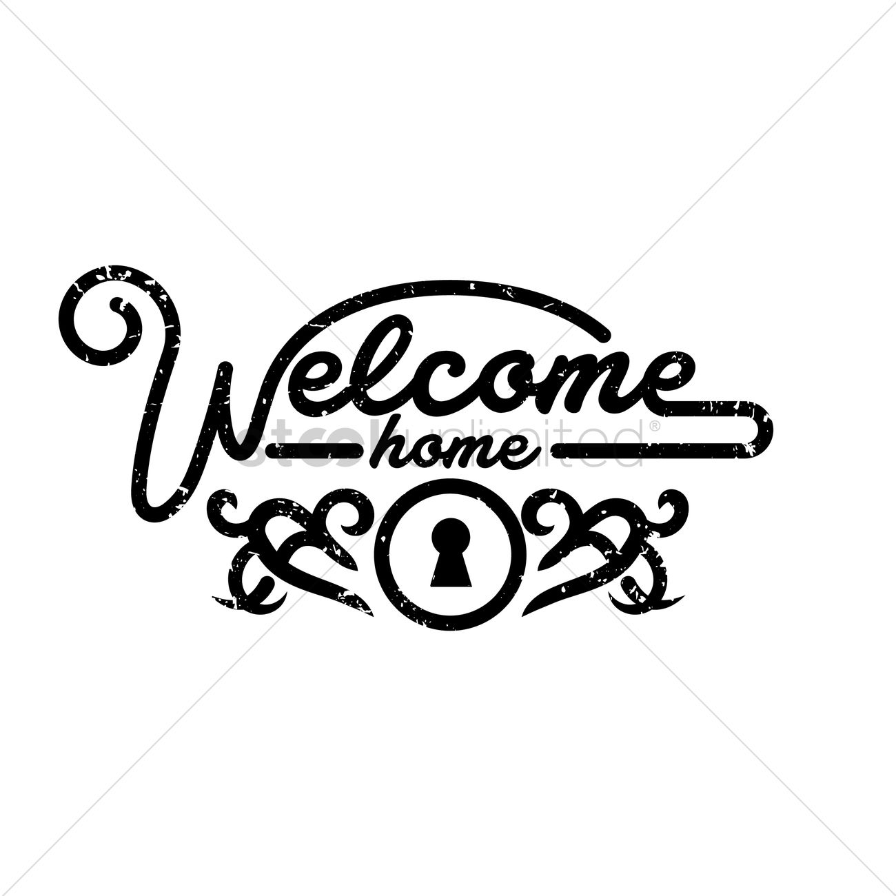 1300x1300 Welcome Home Greeting Vector Image