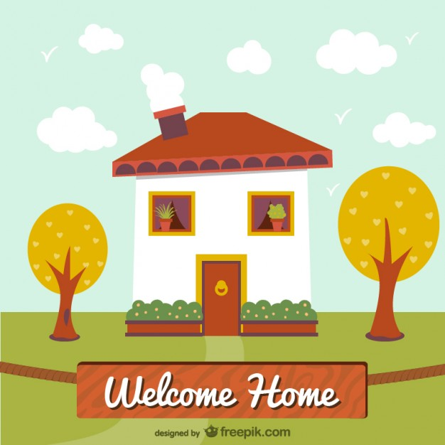 626x626 Welcome Home Illustration Vector Free Download