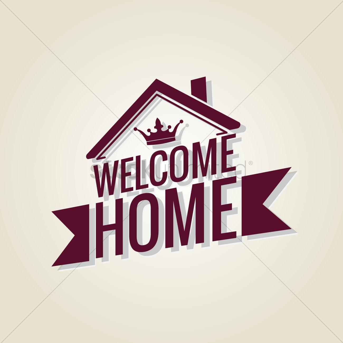 1300x1300 Free Welcome Home Vector Image