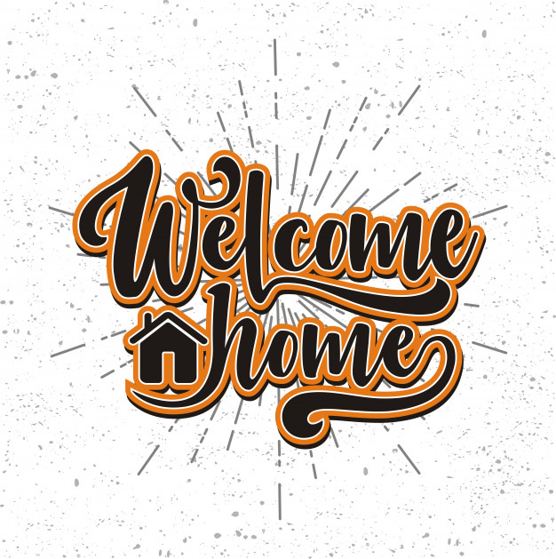 626x629 Hand Drawn Lettering Welcome Home Vector Premium Download