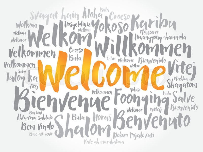 800x600 Welcome Word Cloud In Different Languages, Conceptual Background