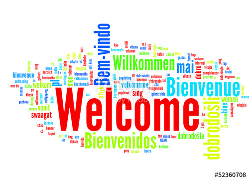 500x361 Welcome (Several Languages English Tag Cloud) Stock Image And