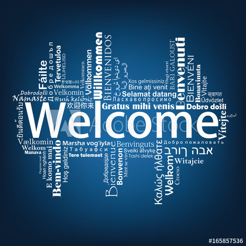 500x500 Welcome Tag Cloud In Different Languages, Vector