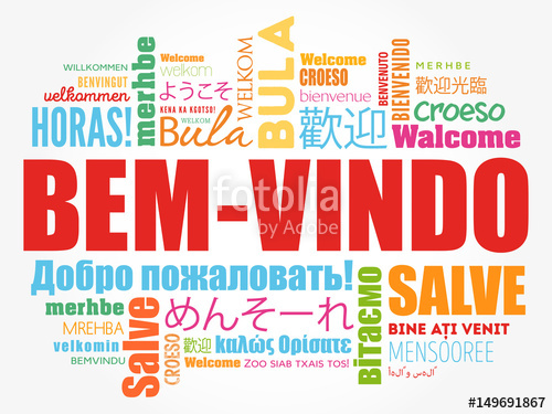 500x375 Bem Vindo (Welcome In Portuguese) Word Cloud In Different
