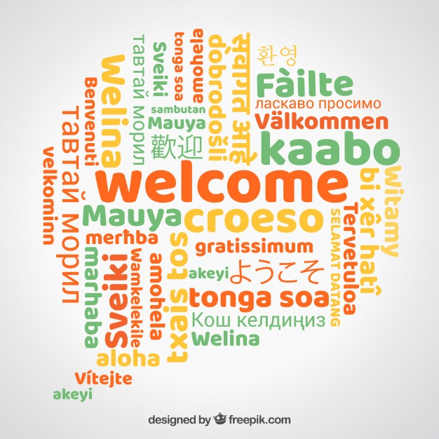 626x626 Welcome In Different Languages Vector Free Download