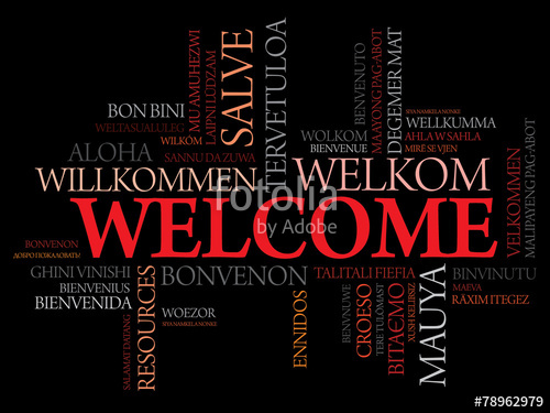 500x375 Welcome In Different Languages Word Cloud, Business Concept Stock