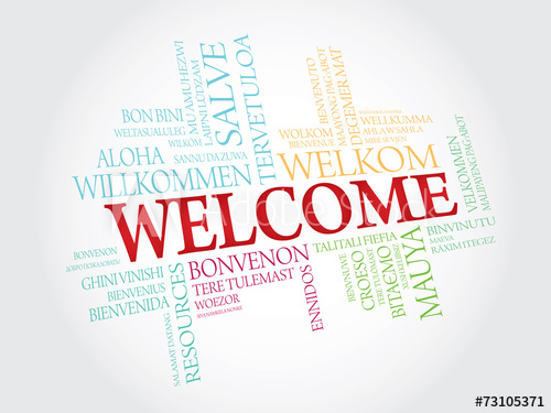 500x375 Welcome In Different Languages. Vector Words Cloud Concept
