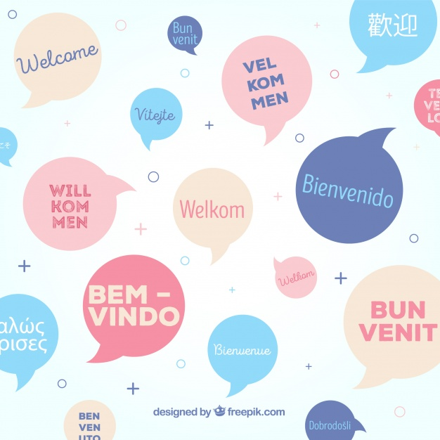 626x626 Welcome Pattern In Different Languages Vector Free Download