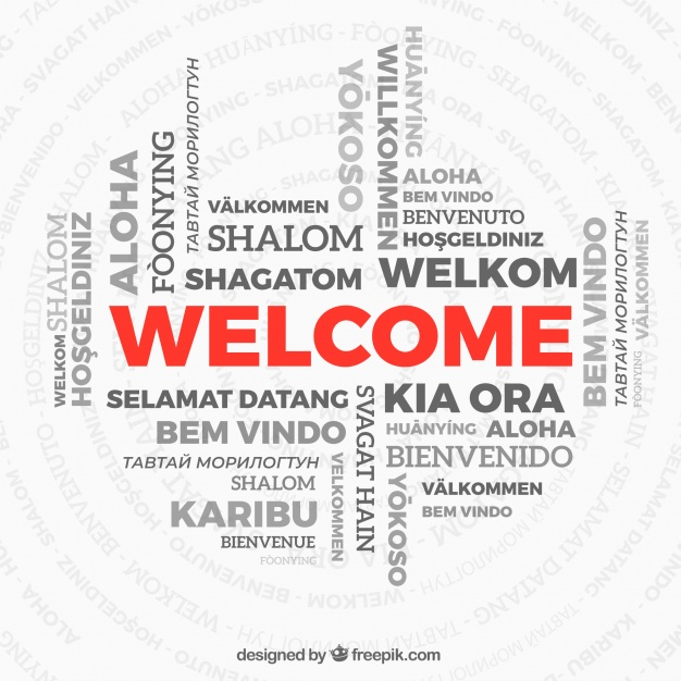 626x626 Welcome Word Composition In Different Languages Vector Free Download