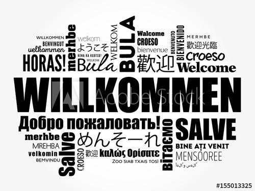 500x375 Willkommen (Welcome In German) Word Cloud In Different Languages