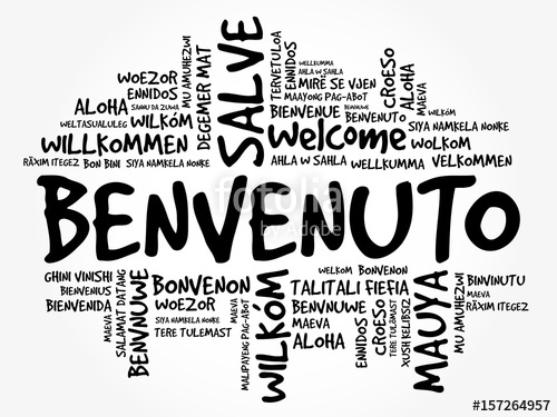 500x375 Benvenuto (Welcome In Italian) Word Cloud In Different Languages