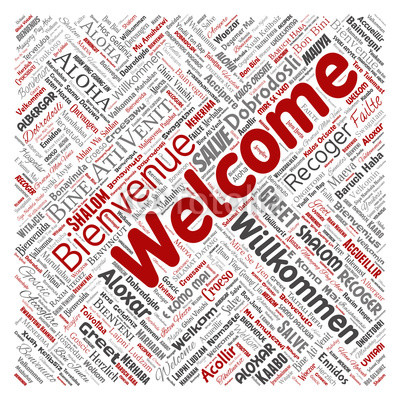 400x400 Vector Conceptual Abstract Welcome Or Greeting International