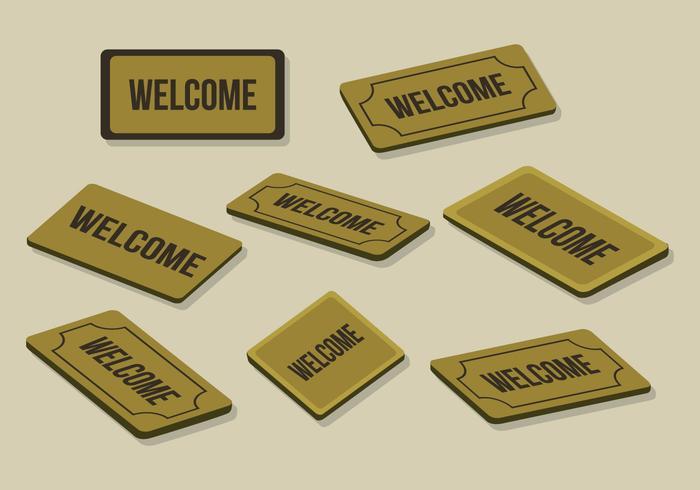 700x490 Free Welcome Mat Vector