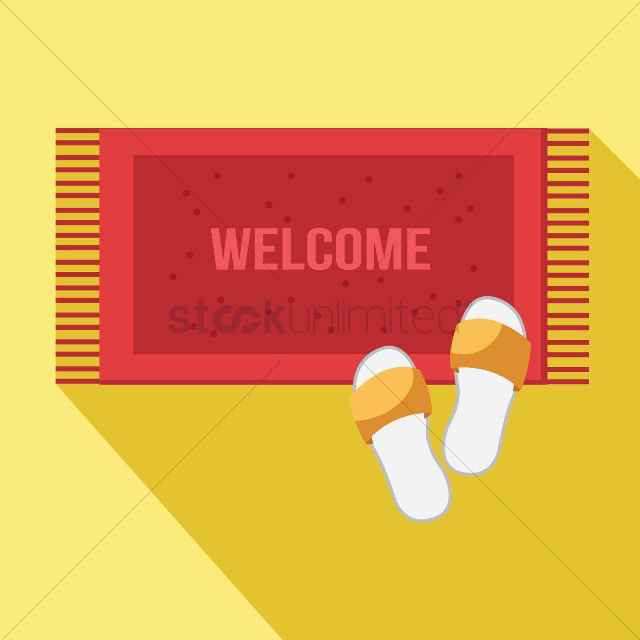 1300x1300 Welcome Mat Vector Image