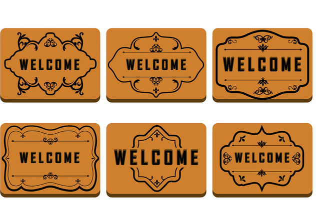 632x443 Brown Welcome Mat Free Vector Download 381211 Cannypic