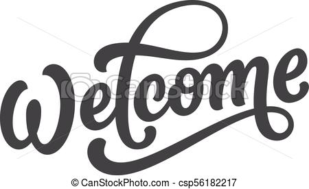 450x276 Vector Welcome Lettering. Welcome Lettering. Hand Drawn