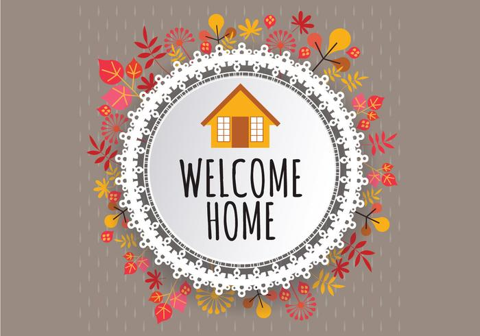 700x490 Welcome Home Fall Sign Vector