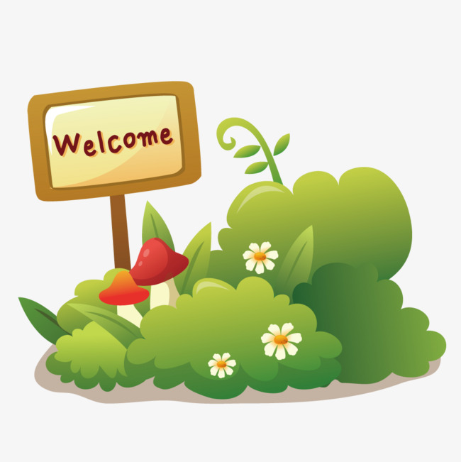 650x651 Welcome Sign On The Grass, Meadow, Flowers, Hand Painted Png And