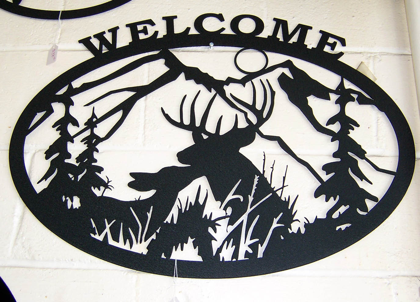1375x990 Deer Welcome Sign Signtorch, Turning Images Into Vector Cut Paths.