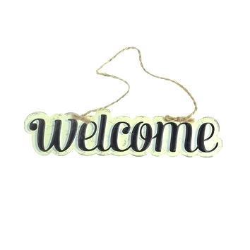 354x354 Hanging Welcome Sign Hanging Wooden Door Sign Welcome Sign Hanging
